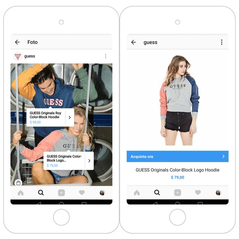 aumento vendite instagram social media shopping online