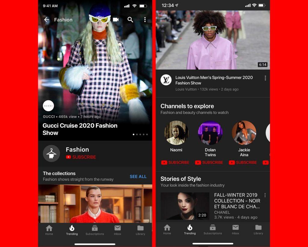 youtube fashion social media web online